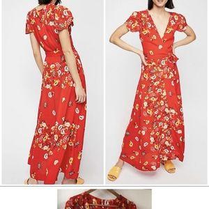 Free People Jess Wrap Floral Maxi Dress